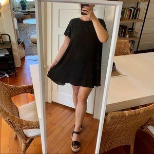 MODCLOTH Chiffon Scalloped Sleeve Mini Dress